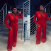Photo: Singer Waje Stuns in Shimmery Red Jumpsuit
