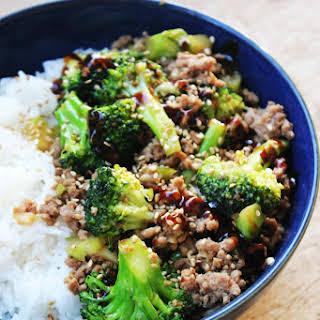 Spicy Hoisin Turkey and Broccoli Stir-Fry.