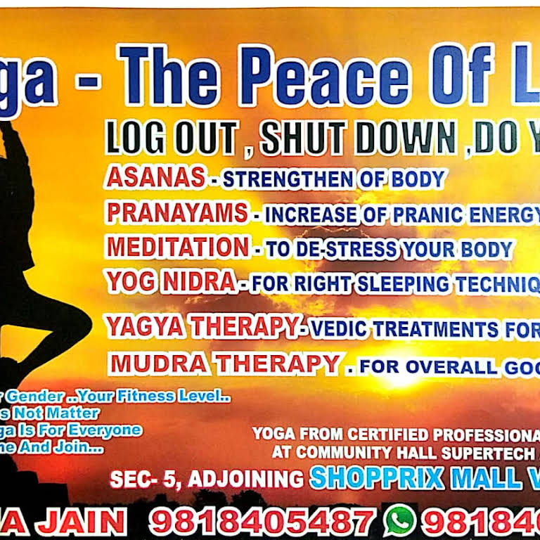 Yoga -the peace of life - Yoga centre in Vaishali