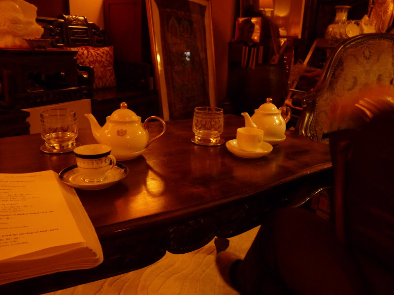 Taipei Un salon de thé exceptionnel et exceptionnellement cher,mais quel décor