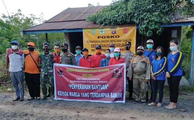 Baguna PDI Perjuangan Pulang Pisau Salurkan Bantuan Korban Terdampak Banjir