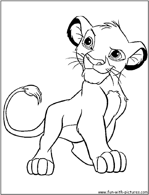 Lion King Coloring Pages Lion King Simba Coloring Page Art   Baedcdce