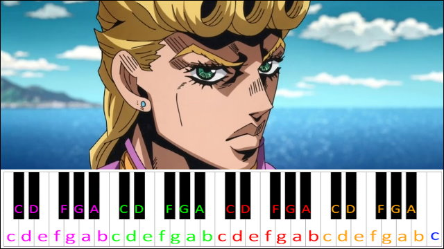 Giorno S Theme Jojo S Bizarre Adventure Easy Version Piano