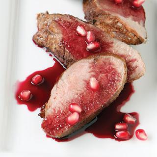 Spiced Pork Tenderloin with Pomegranate Glaze.