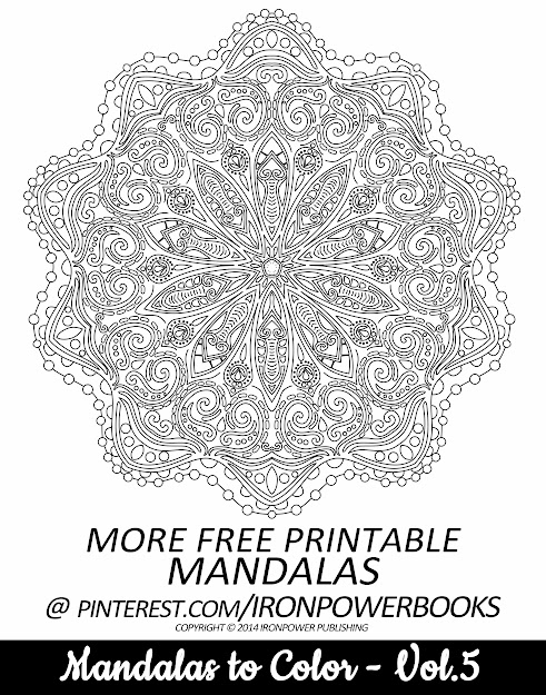 Free Printable Mandala Intricate Coloring Page From Ironpowerbooks  This  Is From The Book Mandalas