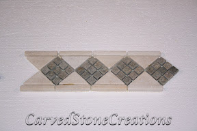 Border, Flooring, Flooring & Mosaics, Interior, Listello, Mosaic, Natural, Quartzite, Stone, White