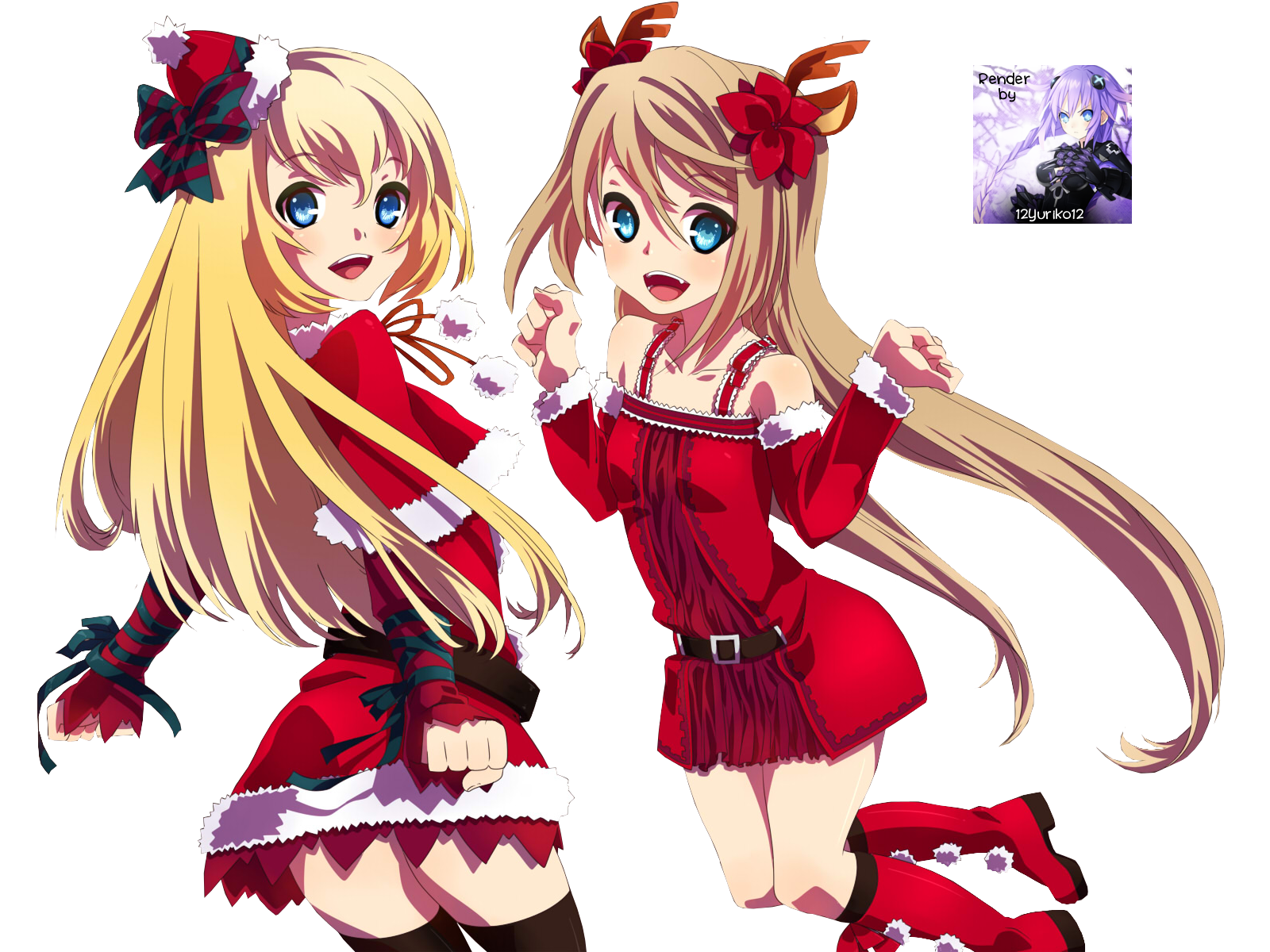 Christmas Anime Render Anime Christmas Render Cashlyn