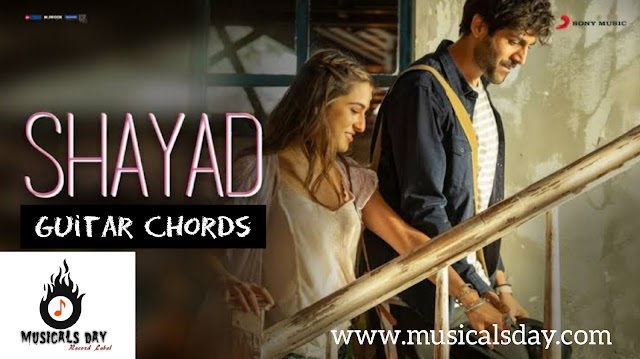Shayad Guitar Chords and strumming pattern by Arijit Singh   Love aajkal   Musicalsday