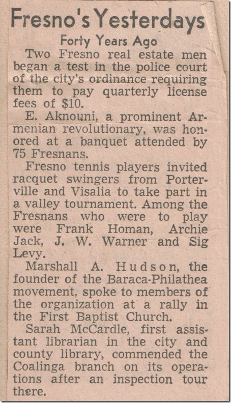 Forty Years Ago Sig Tennis