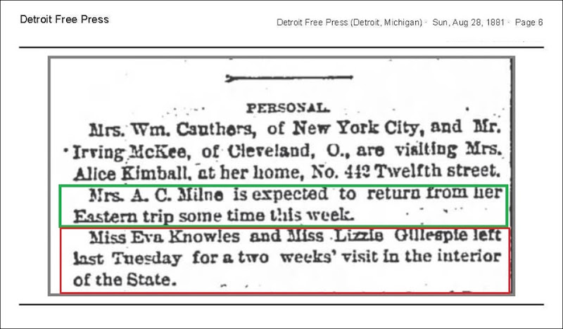 MILNE_Mrs_AC_to_return_from_trip_DFP_28_Aug_1881_pg_6_annot