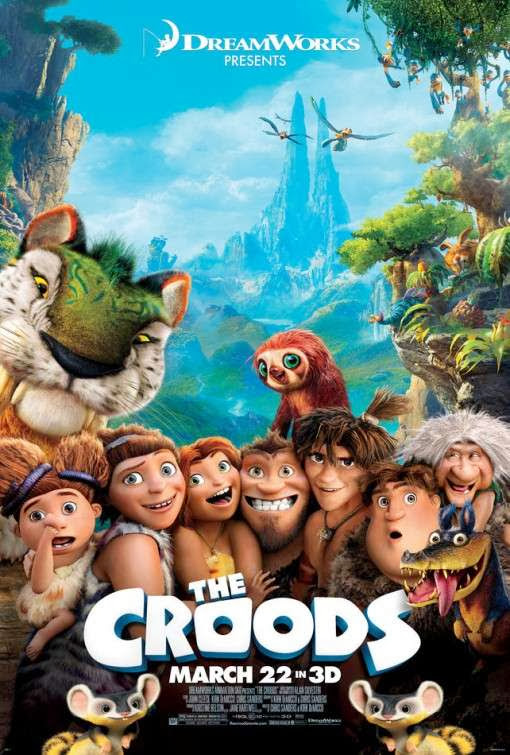 Poster Of English Movie The Croods (2013) Free Download Full New Hollywood Movie Watch Online At Alldownloads4u.Com
