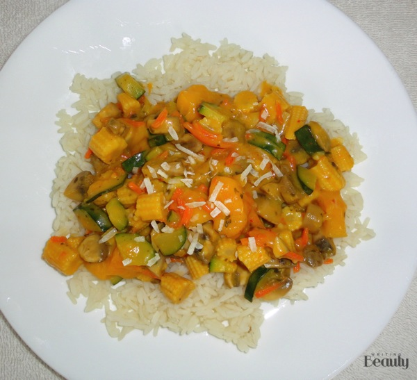 Thai Mango Coconut Vegetables with Rice 6
