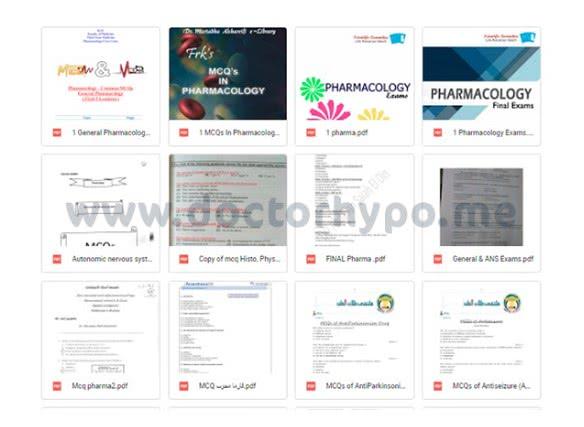 بنك نماذج اسئلة فارماكولوجي pdf