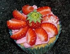 recette des Cupcakes façon tarte aux fraises