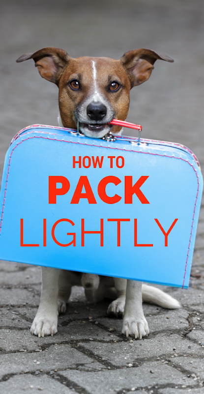 How to Pack lightly travel journal