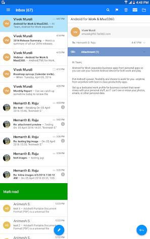 MaaS360 Mail Screenshot