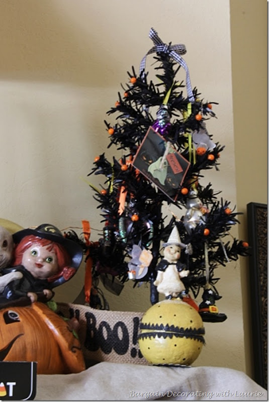Halloween Tree on Mantel