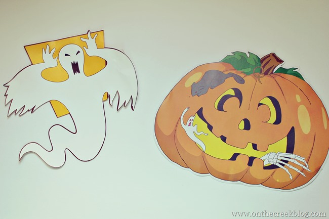 Halloween Ghost & Pumpkin
