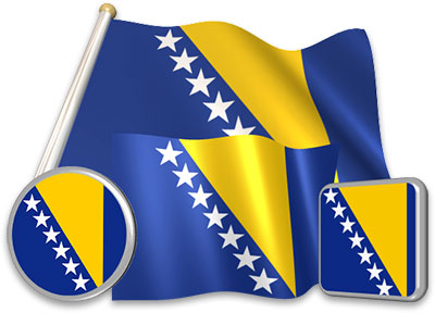 Bosnian  flag animated gif collection