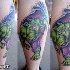 leg - Incredible Hulk Tattoos Pictures