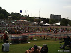 The sea of runners in Piedmont Park after crossing the finish line!