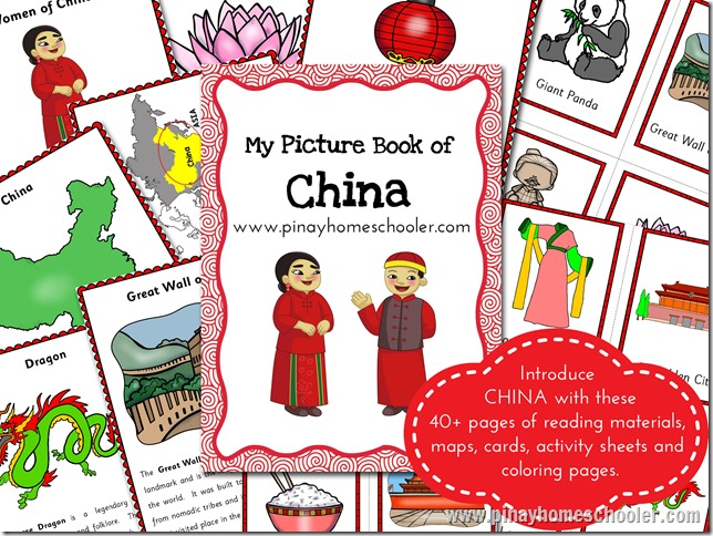 China Learning Pack: Reading Materials, Activity Pages and Cards