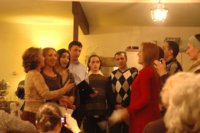 The choir sings more traditional Georgian songs with tremendous energy and passion.