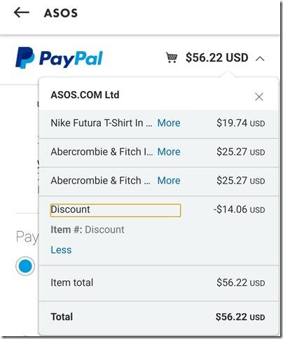 PayPal ASOS