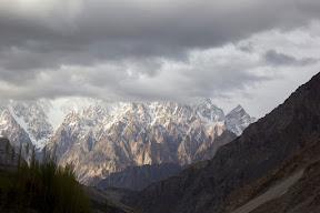 Dramatic view of Passu Cones, near Passu