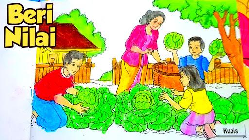 Nafis Wq Mewarnai Gradasi Pemandangan Sayuran Dengan Crayon