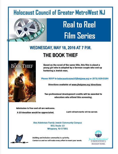 Real to Reel, The Book Thief 5.18.16
