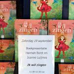 Boekpresentatie en voorlees voorstelling IK WIL ZINGEN 2015 Nieuwe Boekhandel van Monique Burgers 42.JPG