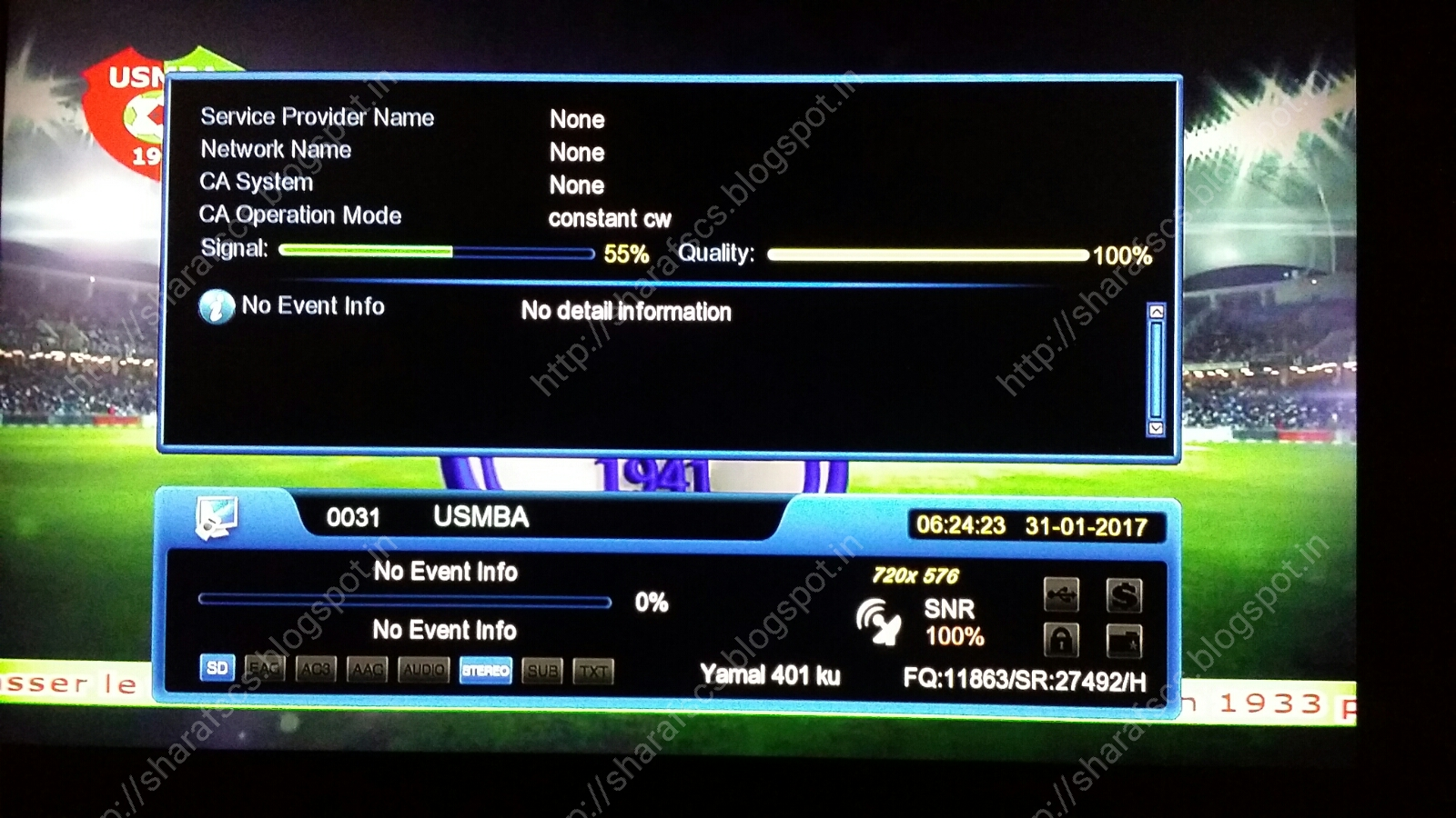 YAHSAT 1A STRONG FREQUENCY