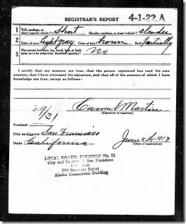 Mervyn Gunzendorfer WWI reg page 2