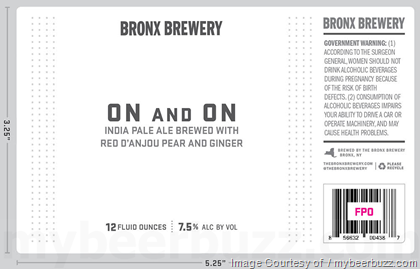 Bronx Brewery On And On