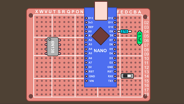 Synth build guide MIDI circuit 3