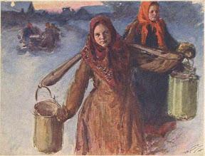 Шли девицы за водой