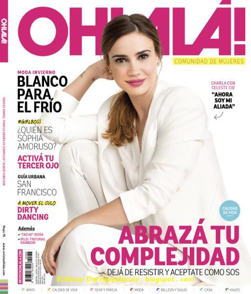 Celeste Cid En Revista Ohlala Mayo 2015 Tapa Y