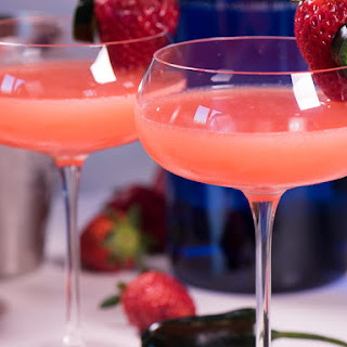 Fresh Strawberry Martini – with homemade strawberry syrup.