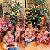 Uche Nnanna and Her Loving Clan In Pyjamas Yuletide Shoot