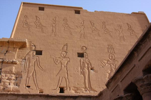 471 Outer Wall Carvings Of Egyptian Gods, Egyptian Magic