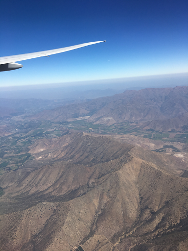 view of the Andes as we fly into Santiago, Chile