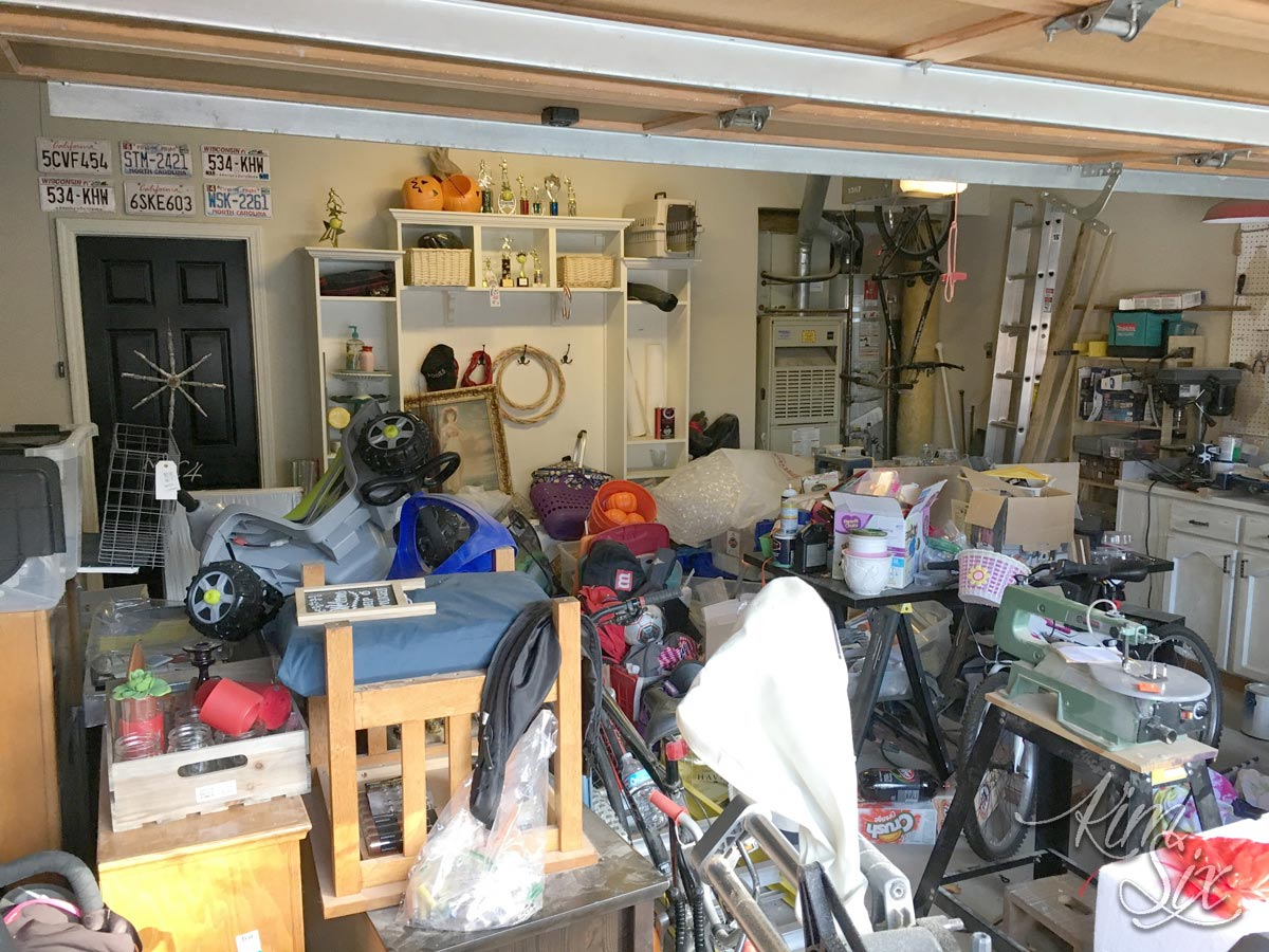 Junk filled garage clean up