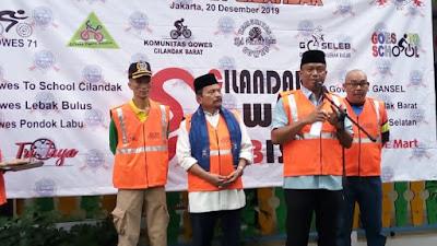 Mewakili Walikota, Sekko Jaksel Resmikan Komunitas Sepeda Cilandak