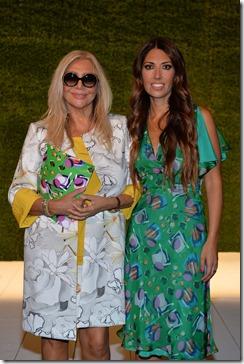 Lavinia Biagiotti e Mara Venier