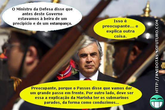 Ministro da Defesa, Aguiar Branco: «Portugal estava à beira de um precipício e de um estampanço»