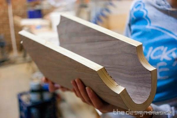 Готовая деталь фанерного стула - ребро жесткости