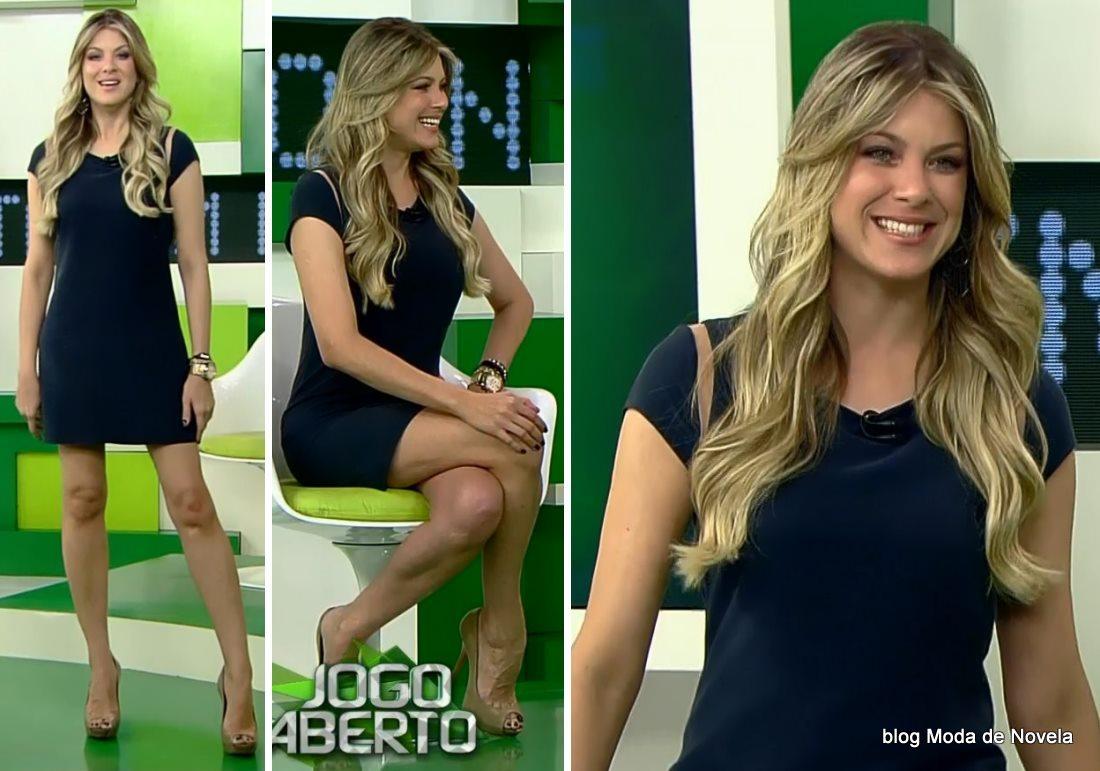 moda do programa Jogo Aberto - look da Renata Fan dia 22 de maio