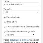 Configuración del widget