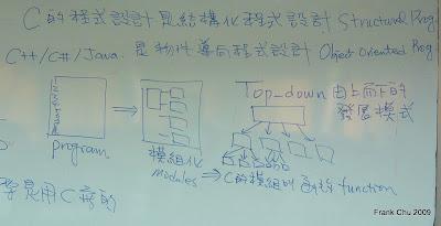 C程式設計是結構化程式設計,Top-down的發展模式